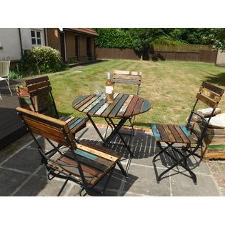Reclaimed Wood Table Set