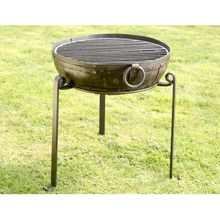 Recycled Fire Bowl including High, Low Stands and Grill